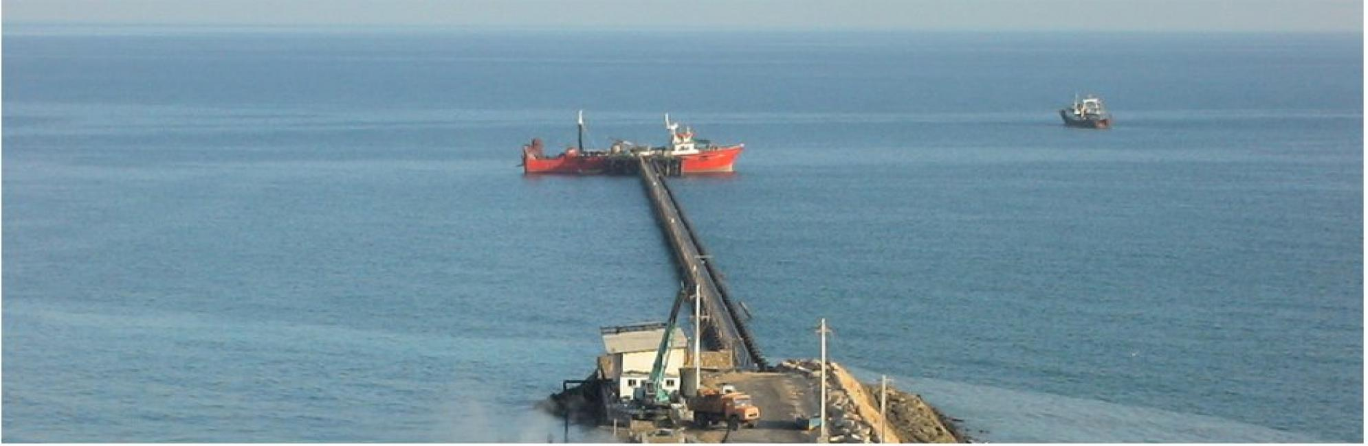QFPCO 1000m long Jetty, Qeshm Island