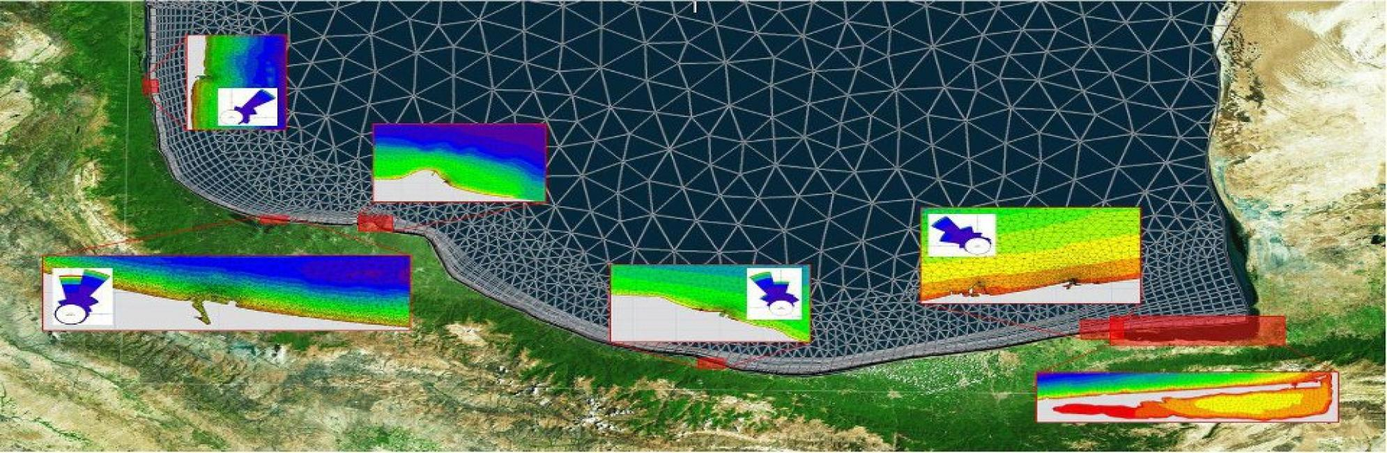 پروژه پایش و مطالعات  شبیه سازی  سواحل شمالی کشور