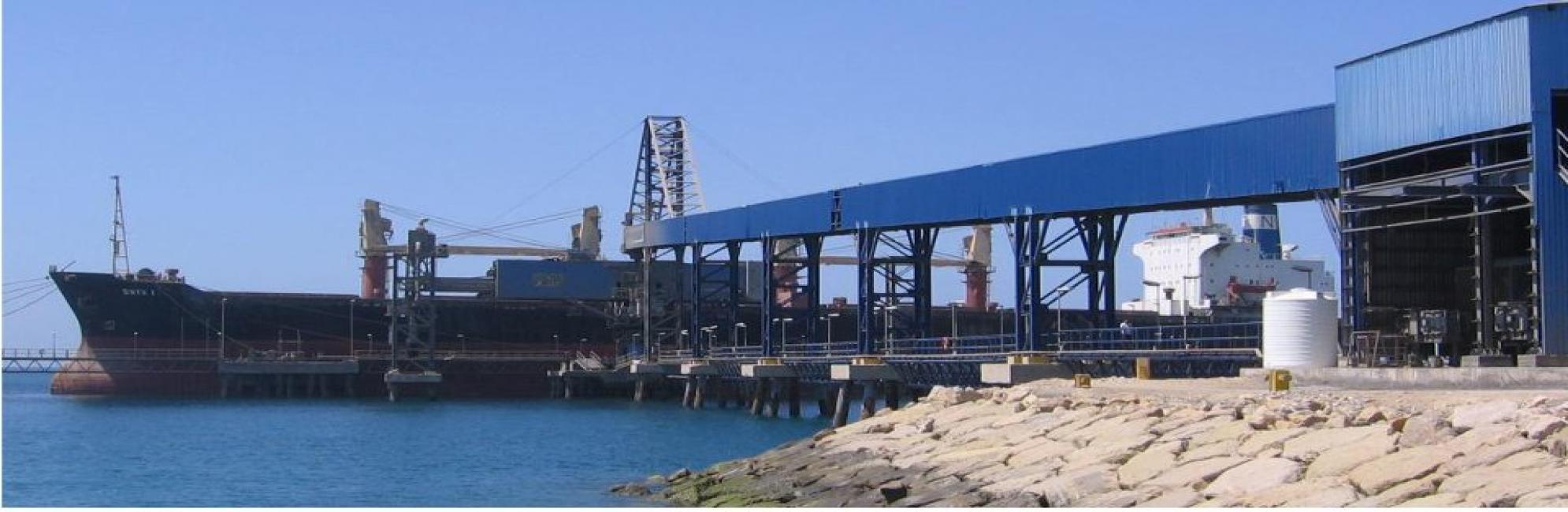 Sarooj  50,000 DWT Berth,Shiploader 1200 Ton/hr,Conveyor  Kangan,Busher Province