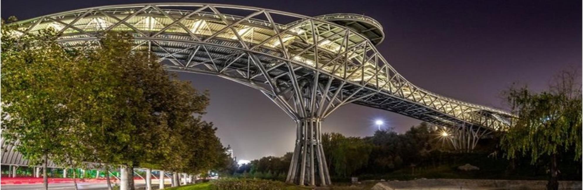 کنترل طراحی و محاسبات سازه پل طبیعت تهران